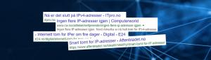 Slutt for IPv4